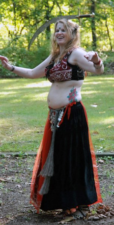 picture of Jez belly dancing